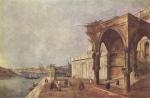 Художник: Гварди, Франческо.  Каприччо на венецианские мотивы.