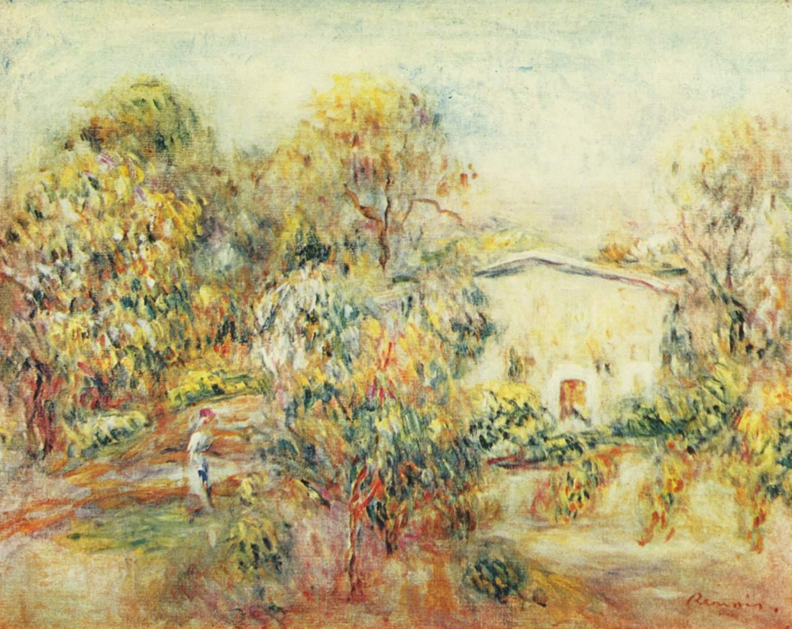Ренуар пьер огюст пейзаж близ кань