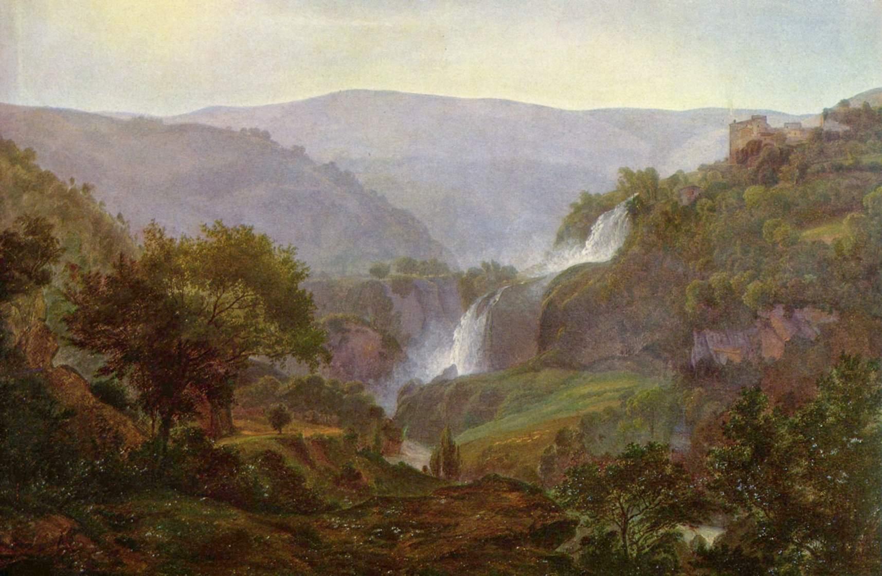Иоганн мартин фон водопад в тиволи