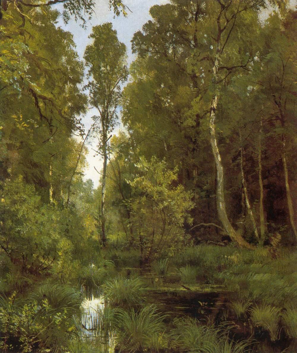 Пруд у опушки леса сиверская